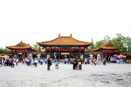 garden gate: peony garden gate, luoyang city, henan province, China