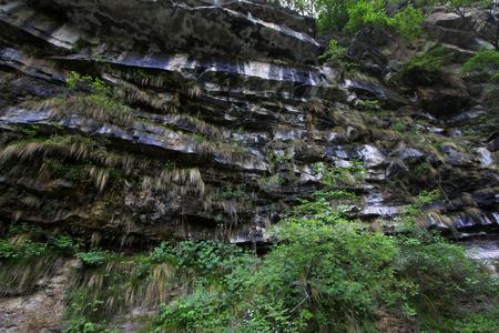 fault: Mountains fold fault landscape, closeup of photo