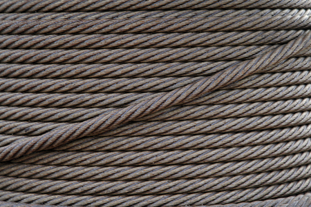 wire rope: Steel wire rope, closeup of photo Stock Photo