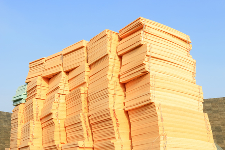 thermal insulation: thermal insulation building materials piled up together, closeup of photo
