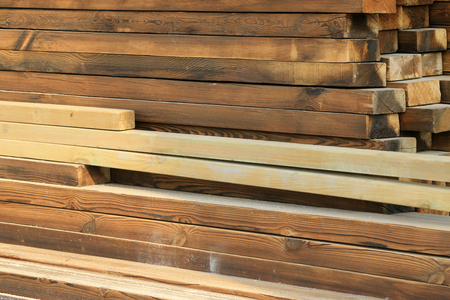 construction materials: wood texture, closeup of photo Stock Photo