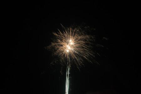 lantern festival: fireworks in the night sky, on the Chinese Lantern Festival