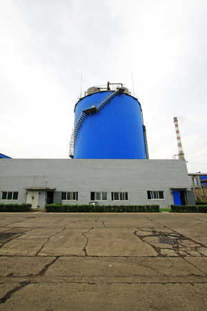 reactor: Luannan County - September 28: Anaerobic reactor building appearance, in a sewage treatment factory, on September 28, 2015, luannan county, hebei province, China Editorial