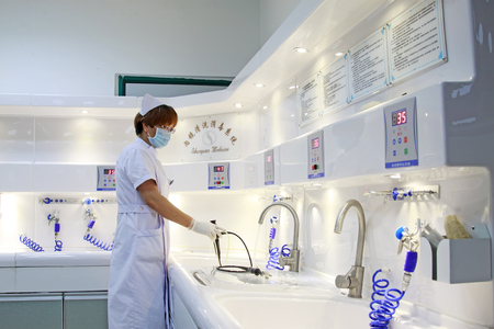 endoscopic: Luannan - June 29: female nurses in endoscopic cleaning, on June 29, 2015, luannan county, hebei province, China Editorial