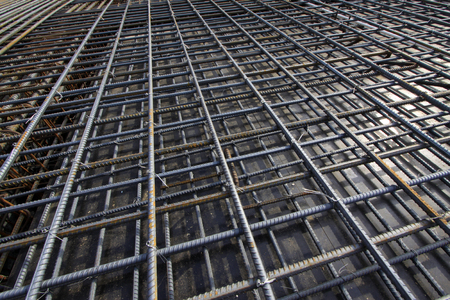seizing: twisted steel racking seizing, closeup of photo