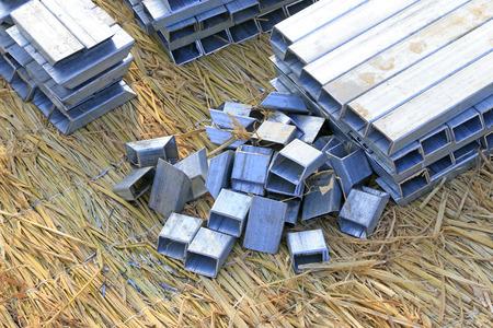 alloy: Aluminum alloy parts, closeup of photo