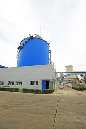 anaerobic: Luannan County - September 28: Anaerobic reactor building appearance, in a sewage treatment factory, on September 28, 2015, luannan county, hebei province, China Editorial
