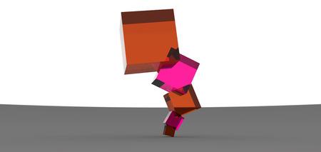 rendering: cube stacked rendering design