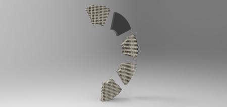 gray: 3D rendering in gray background