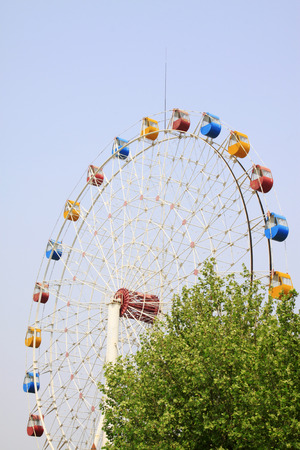 millennium wheel: ferris wheel in a park, closeup of photo