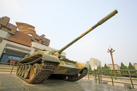 north china: tanks in front of the north China revolution war memorial, shijiazhuang city, hebei province, China Editorial