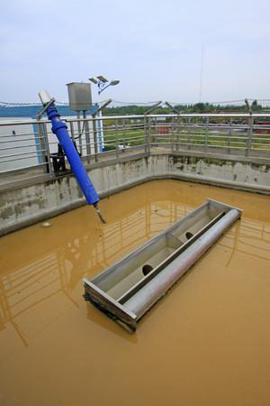 turbidity: sewage treatment plant aerobic reaction pool, closeup of photo