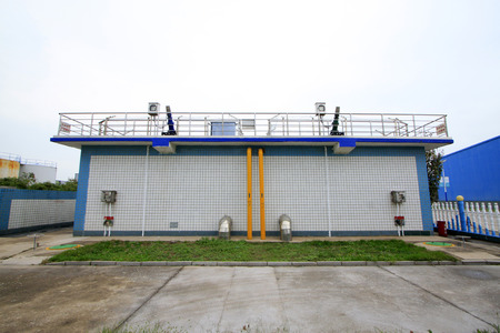 sewage treatment plant: sewage treatment plant aerobic reaction pool, closeup of photo