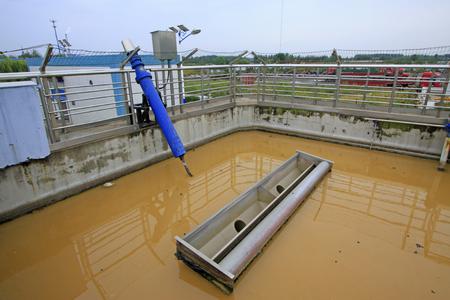 isolation tank: sewage treatment plant aerobic reaction pool, closeup of photo
