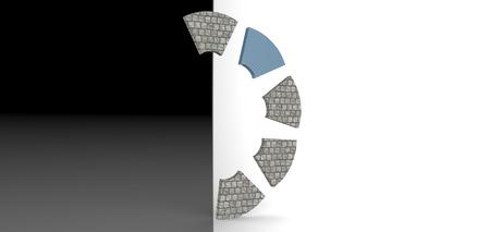 rendering: 3D rendering Stock Photo