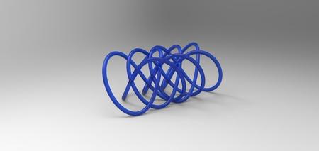 torus: 3D torus knot in gray background
