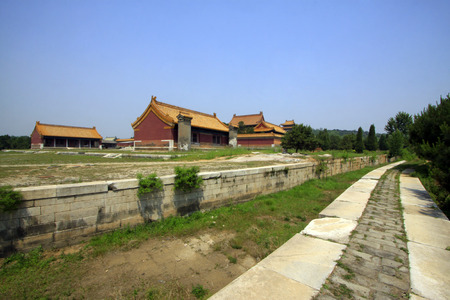architectural style: ancient Chinese traditional architectural style landscape, closeup of photo
