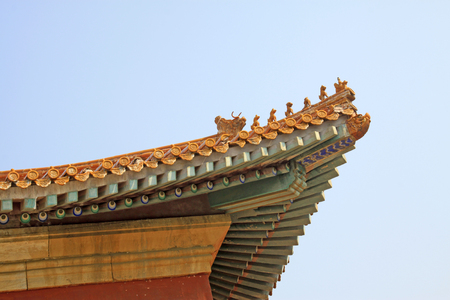 glazed: Chinese ancient architectural landscape, Glazed tile roof