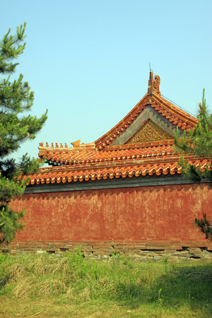 eaves: glazed tile eaves, Chinese ancient architectural landscape, China