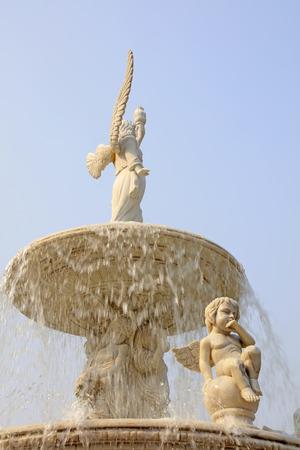 garden fountain: Tangshan city - April 29: Tangshan world horticultural exposition Italian garden Fountain sculpture, April 29, 2016, Tangshan city, china