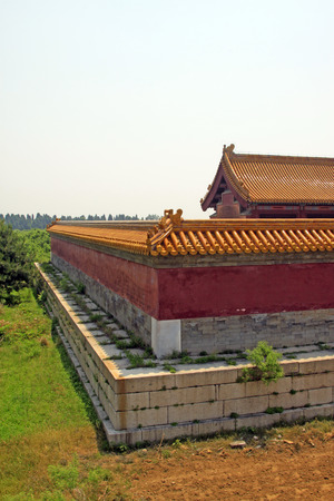 Chinese ancient architectural landscape in Eastern Royal Tombs of the Qing Dynasty, closeup of photo