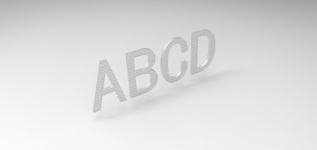 abcd: 3D font ABCD in white background, computer generated images