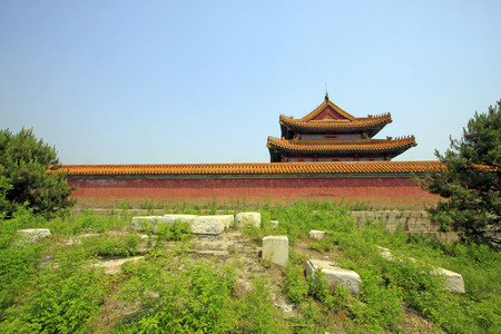 garden features: Chinese ancient architectural landscape in Eastern Royal Tombs of the Qing Dynasty,China
