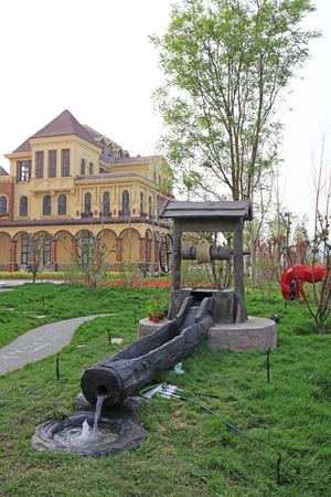 exposición: la ciudad de Tangshan - 29 abril: Tangshan mundo exposición de horticultura paisaje jardín a la italiana 29 de abril de 2016, la ciudad de Tangshan, China Editorial