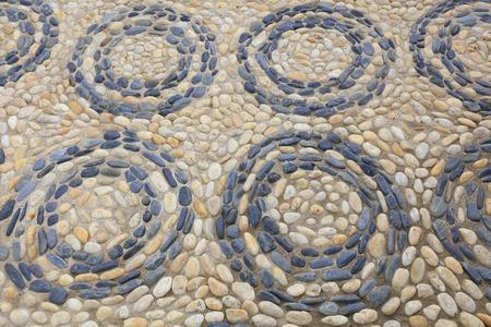 circulos concentricos: textura guijarros rompecabezas, c�rculos conc�ntricos Foto de archivo