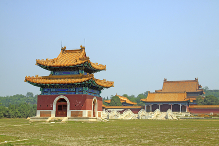 Chinese ancient architectural landscape in Eastern Royal Tombs of the Qing Dynasty, China