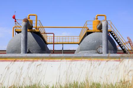 storage tanks: Storage tanks in a factory