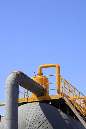 storage tanks: Storage tanks and pipelines in a factory