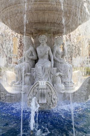 Tangshan city - April 29: Tangshan world horticultural exposition Italian garden Fountain sculpture, April 29, 2016, Tangshan city, china