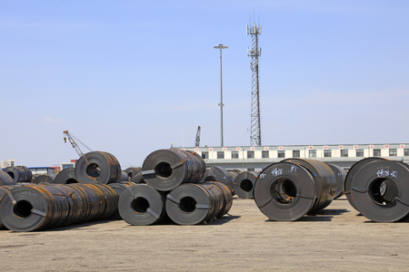 Strip steel in container terminal