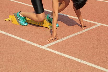 starting block and short distance runner