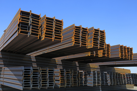 H shape steel pile in freight terminal