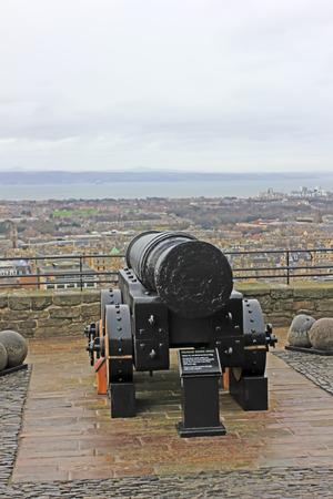 december 21: Edinburgh - December 21: cannon in Edinburgh castle, December 21, 2015, Edinburgh, UK.