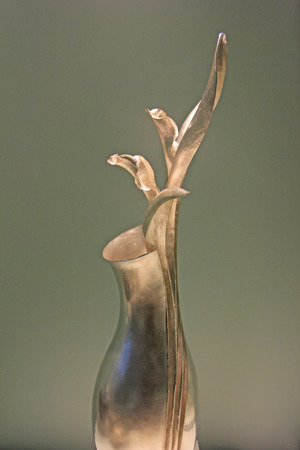 Edinburgh - December 22: Silver nested arts and crafts in the National Museum of Scotland, on December 22, 2015, Edinburgh, UK.