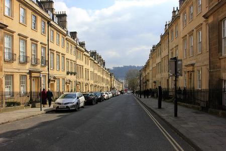 buss: Bath City - March 16: Urban building scenery, March 16, 2016, Bath, UK.