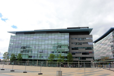 headquarters: Manchester - July 27: British Broadcasting Corporation (BBC) headquarters in Manchester, on July 27, 2016, England.