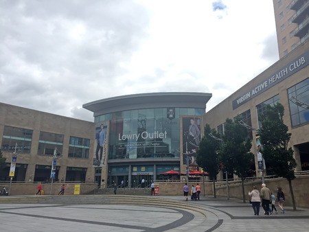 lowry: Manchester - July 27: Lowry outlet shopping center, on July 27, 2016, Manchester, England.