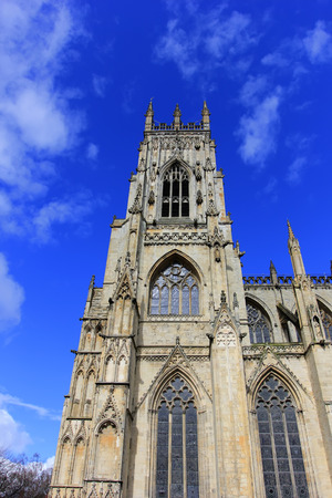 restore: York - March 30: cathedral building scenery, March 30, 2016, Yorkshire, England. Editorial