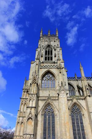 York - 30 mars: scène de construction de la cathédrale, 30 mars 2016, Yorkshire, Angleterre. Éditoriale