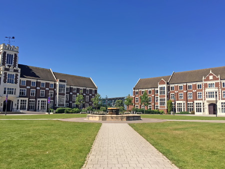campus tour: Loughborough - July 19: loughborough university campus landscape, on July 19, 2016, loughborough, UK. Editorial