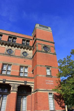 Birmingham - September 11: Poynting Building in the University of Birmingham, on September 11, 2016, UK