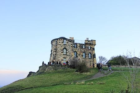 december 21: Edinburgh - December 21: Edinburgh castle building scenery, December 21, 2015, Edinburgh, UK.