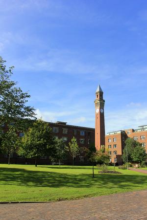 Birmingham - September 11: The Joseph Chamberlain Memorial Clock Tower, in the university of Birmingham, on September 11, 2016, UK