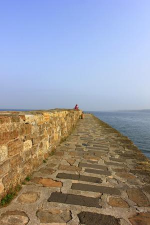 Coastal scenery, st Andrews, UK Stock Photo