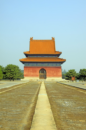 garden features: Chinese ancient architectural landscape in Eastern Royal Tombs of the Qing Dynasty China Editorial