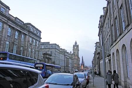 december 21: Edinburgh - December 21: Edinburgh urban building scenery, December 21, 2015, Edinburgh, UK. Editorial